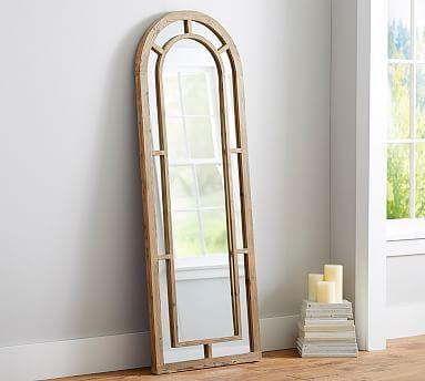 Distiller Wood Arched Floor Mirror   Floor mirror, Arch and Woods