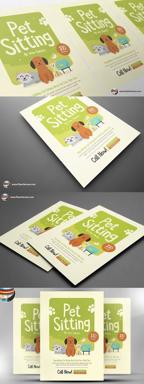 pet sitting flyer template v2 premium design pinterest flyer