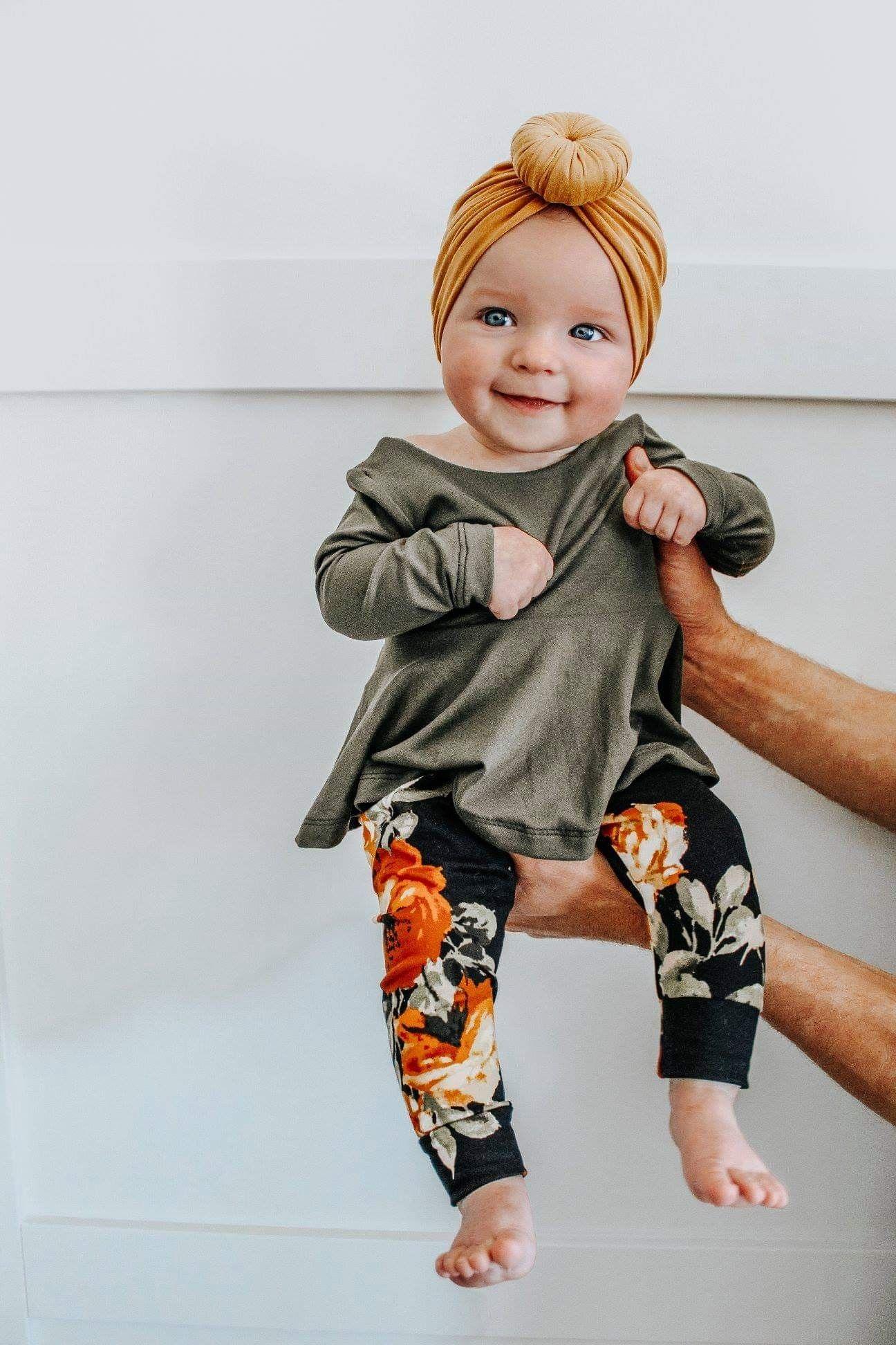 Peplum Top + Leggings  Baby fashion, Baby girl fashion, Baby girl