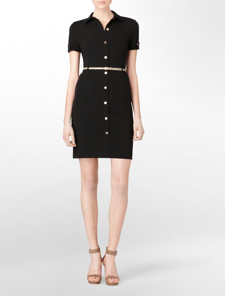 40+ Calvin klein cotton belted shirtdress ideas