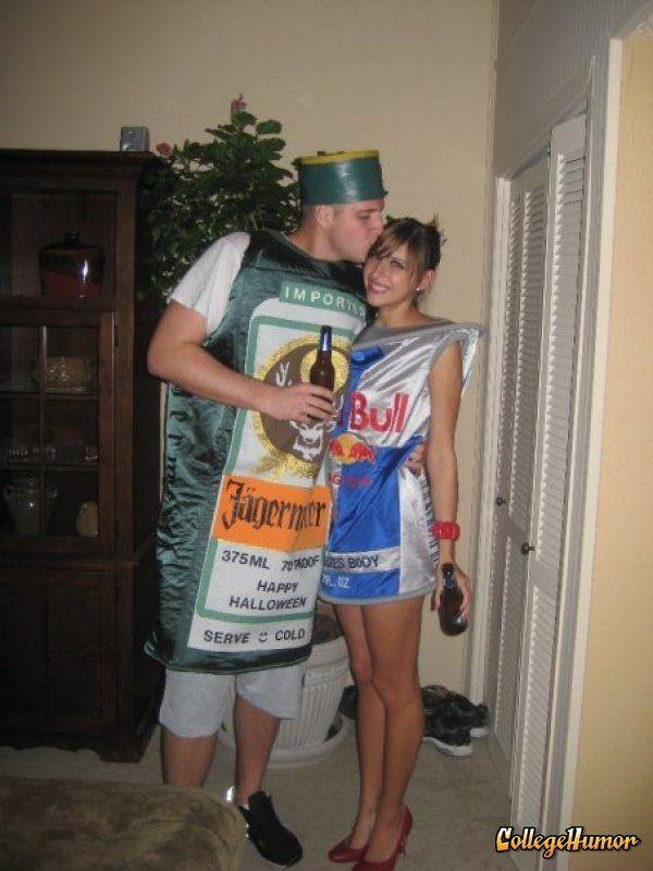 Jagerbomb Couple Costume So freakin cute Pinterest Costumes - creative couple halloween costume ideas