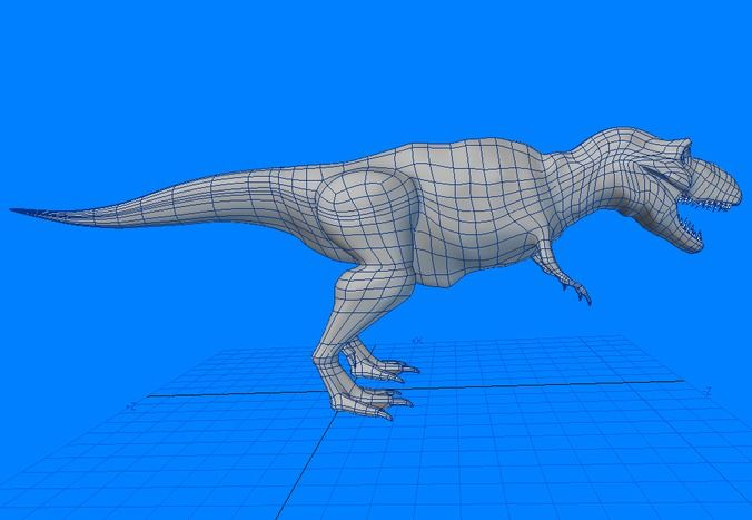how to make 3d dinosaur model