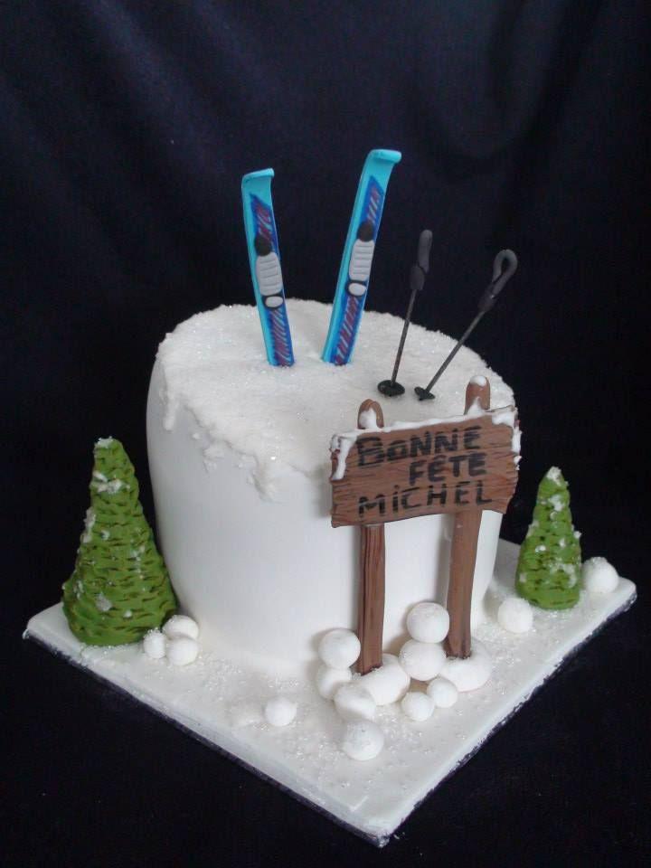 Ski Cake G 226 Teau Ski Creation Maman Gateau Cake Cake