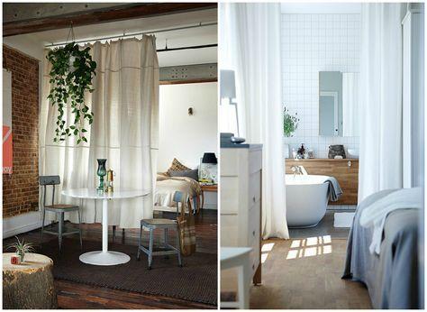 separare ambienti con le tende | Case | Arredamento casa, Ambiente e ...