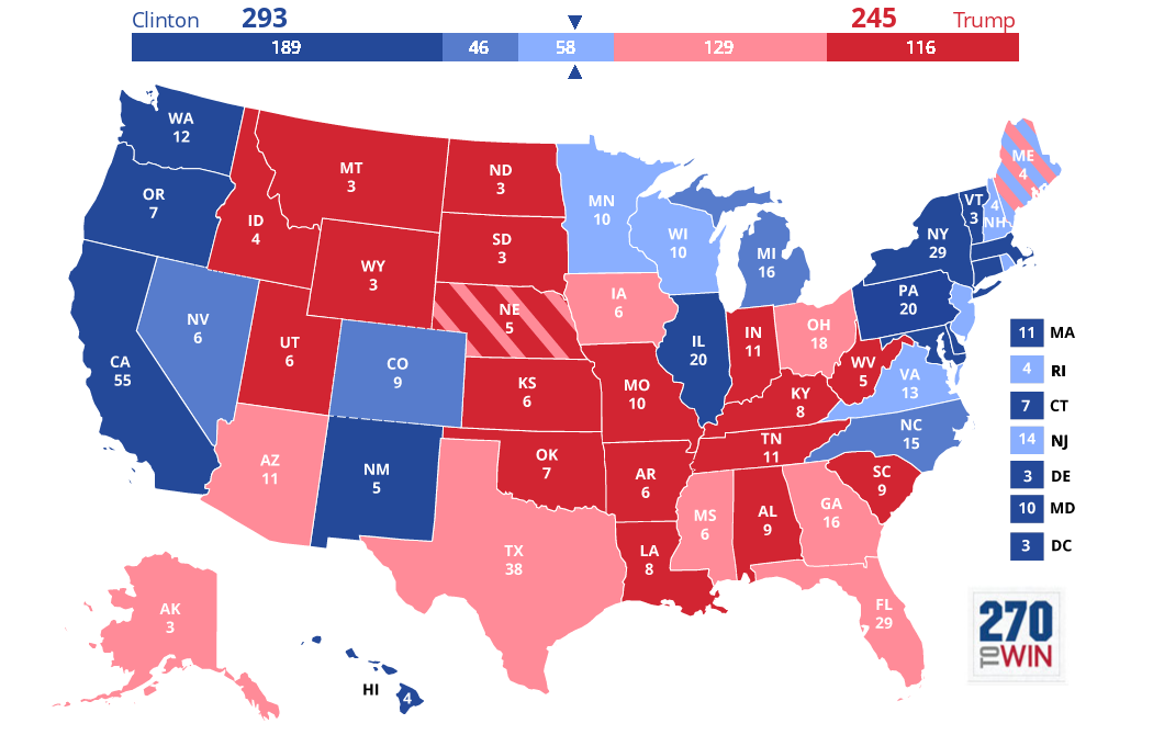 Map Of Red And Blue States 2016 Presidential Election.2016 Presidential Election Interactive Map 2016 Election