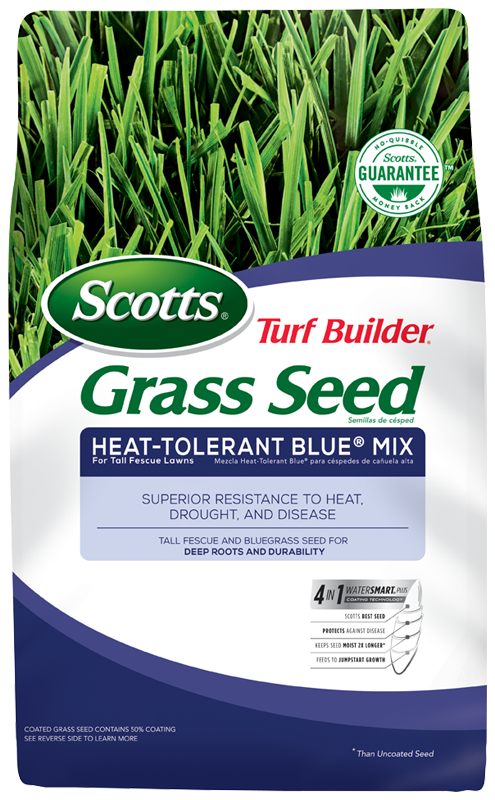 Scotts Turf Builder Grass Seed Heat Tolerant Blue Mix For Tall Fescue Lawns Grass Seed Turf Builder Fescue Lawn