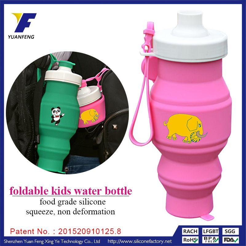 Custom Foldable Water Bottle Clear