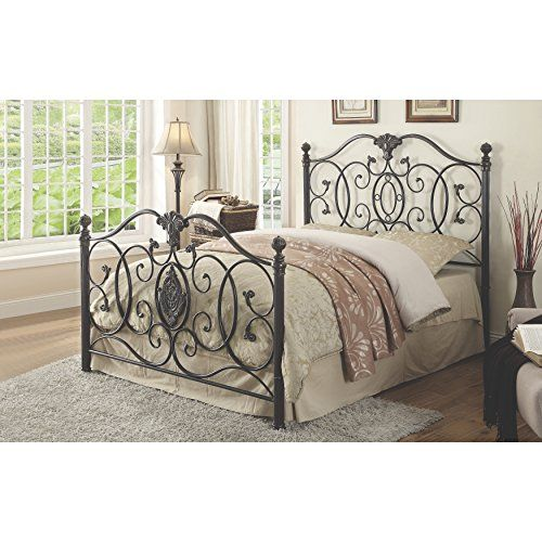 Coaster Home Furnishings 300395q Queen Bed Black Brush Gold Details Can Be Found By Clicking On The Image Metal Beds