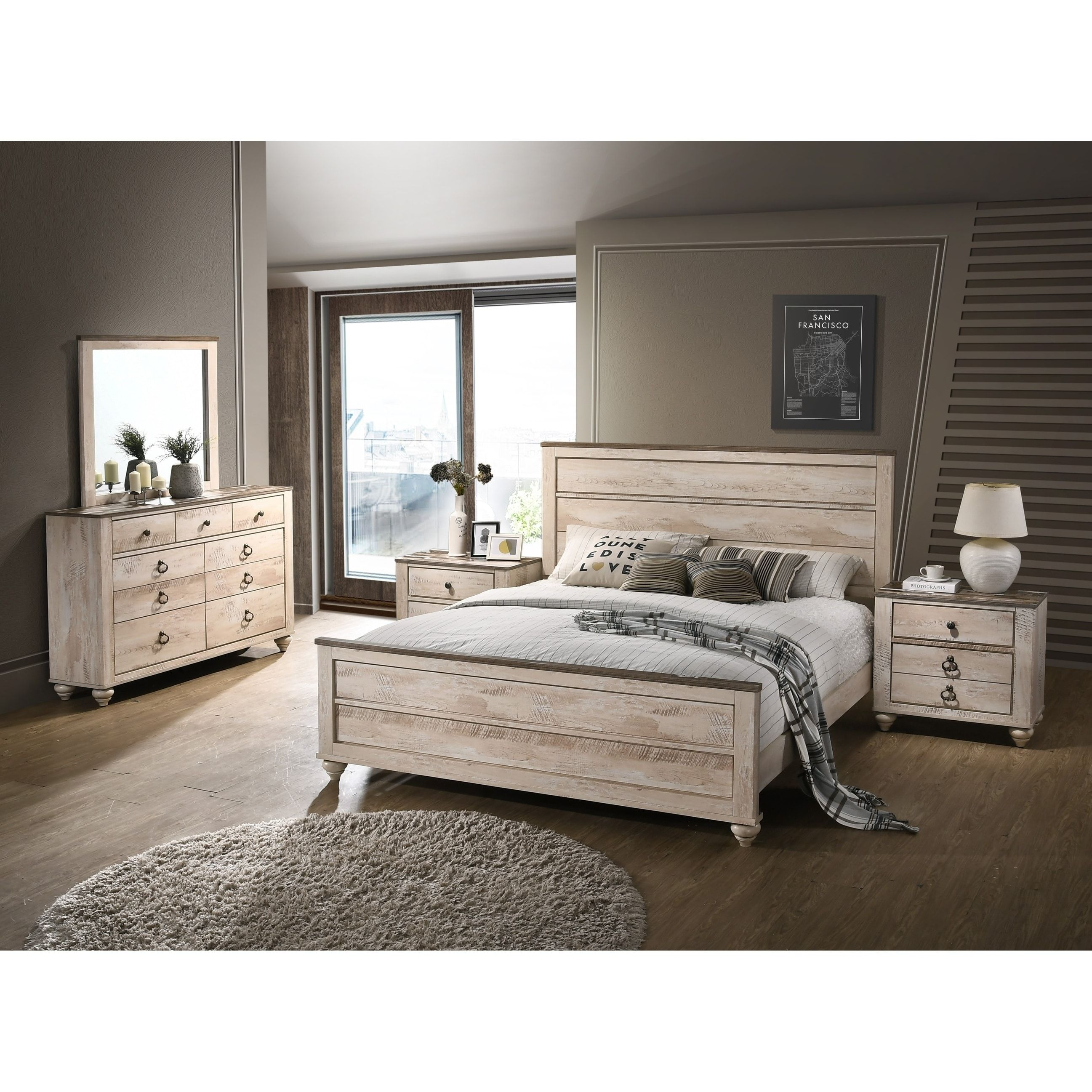 Overstock Com Online Shopping Bedding Furniture Electronics Jewelry Clothing More King Bedroom Sets White Washed Bedroom Furniture Bedroom Set
