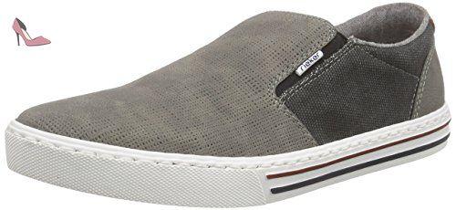 Rieker 08956 Loafers & Mocassins-Men, Mocassins Homme - Gris - Grau (cement/dust/40), 41