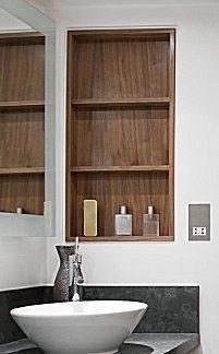 Realistic Bath Design Ideas Recessed Shelves Recessed Medicine