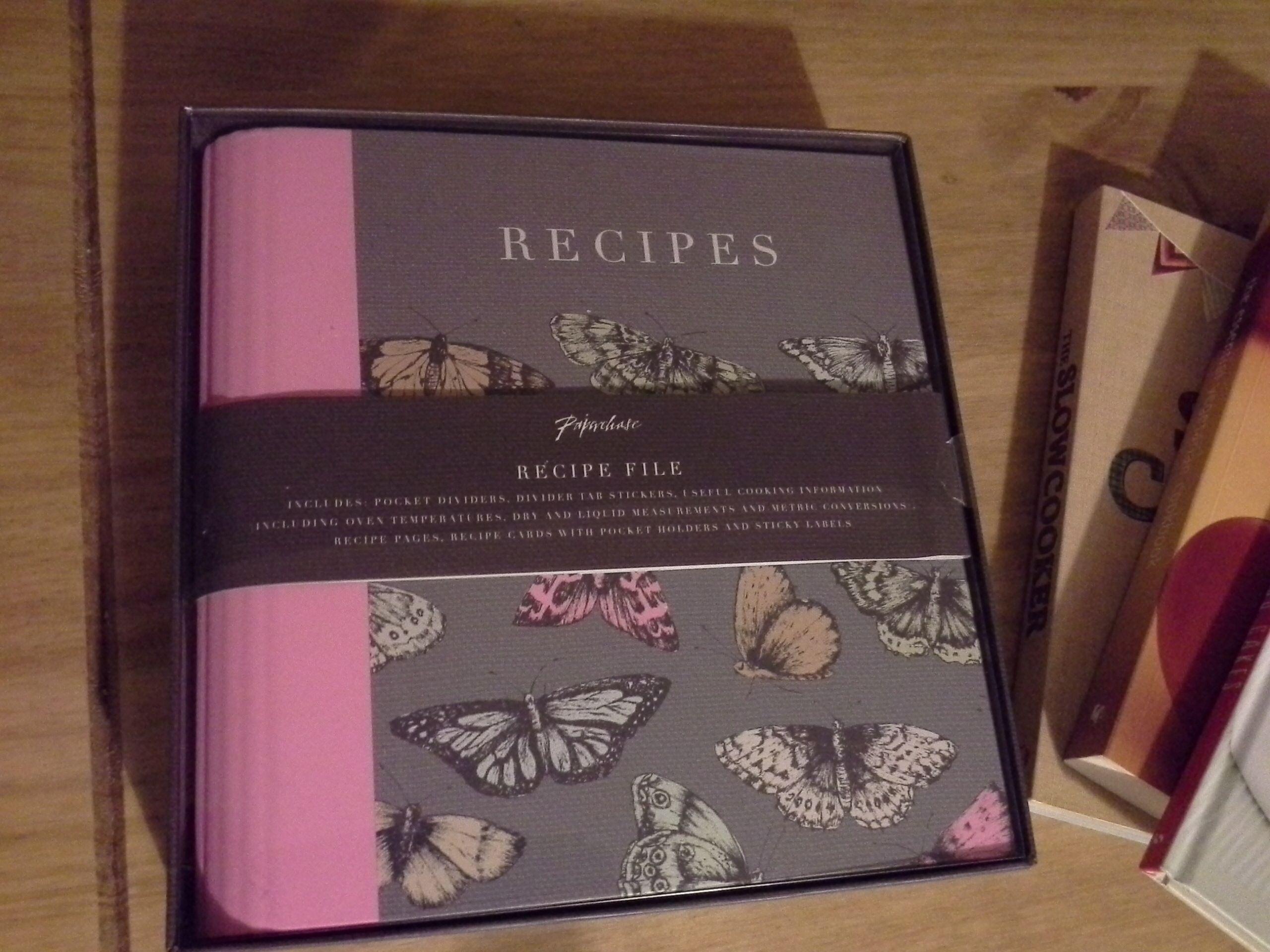 recipe stationery