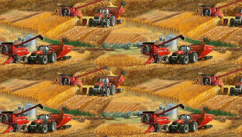 Case IH All Over Fabric