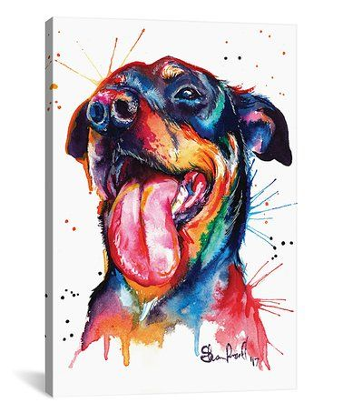 Look What I Found On Zulily Rottweiler Watercolor Wrapped Canvas