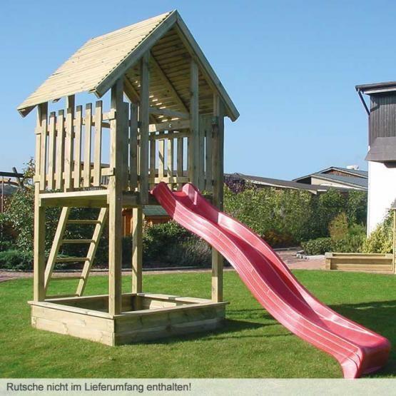 Spielturm Turm Bausatz Inkl Leiter Ohne Rutsche Vorgefertigt Fur Anbau Einer Kletterwand Oder Der Grossen Rutschwanne Spielturm Kleiner Garten Spielturm Turm