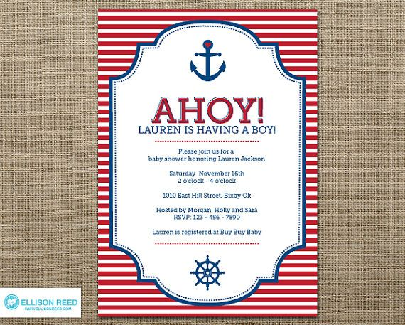 Imagenes De Free Printable Nautical Baby Shower Invitations Templates