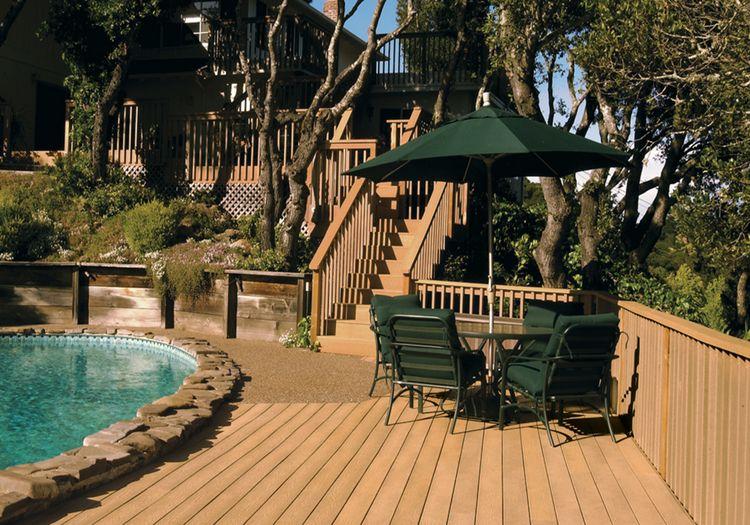 engineered oak wood decking material