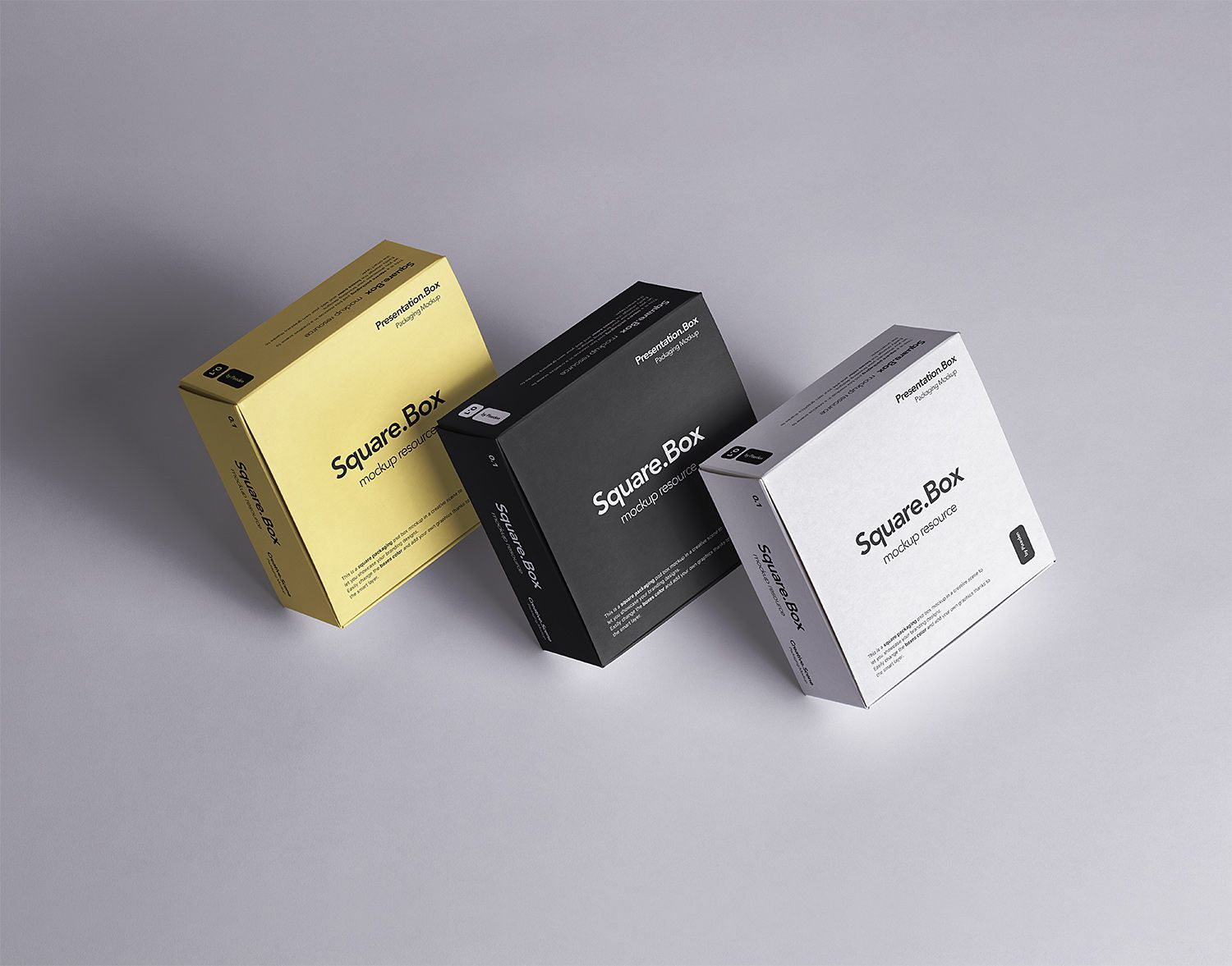 Download Three Square Boxes Packaging Free Mockup To Showcase Your Packaging Design In A Photorealistic Look Psd File Consists Packaging Mockup Box Mockup Free Mockup