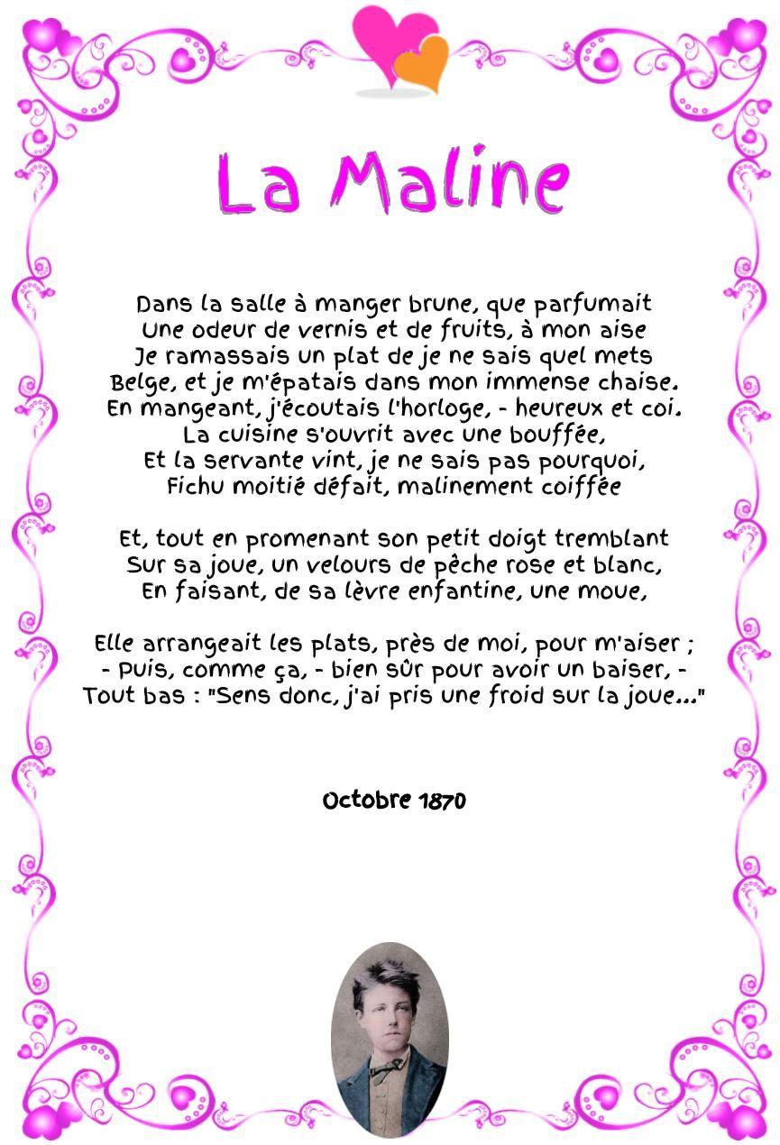 La Maline Arthur Rimbaud Words