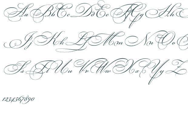 Fancy Cursive Fonts Alphabet For Tattoos Calligraphy Letters Penmanship And