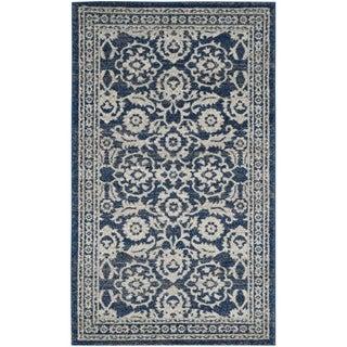 Safavieh Evoke Jami Distressed Vintage Boho Rug 4 X 6 Royal Ivory Blue Area Rugs Rugs Colorful Rugs
