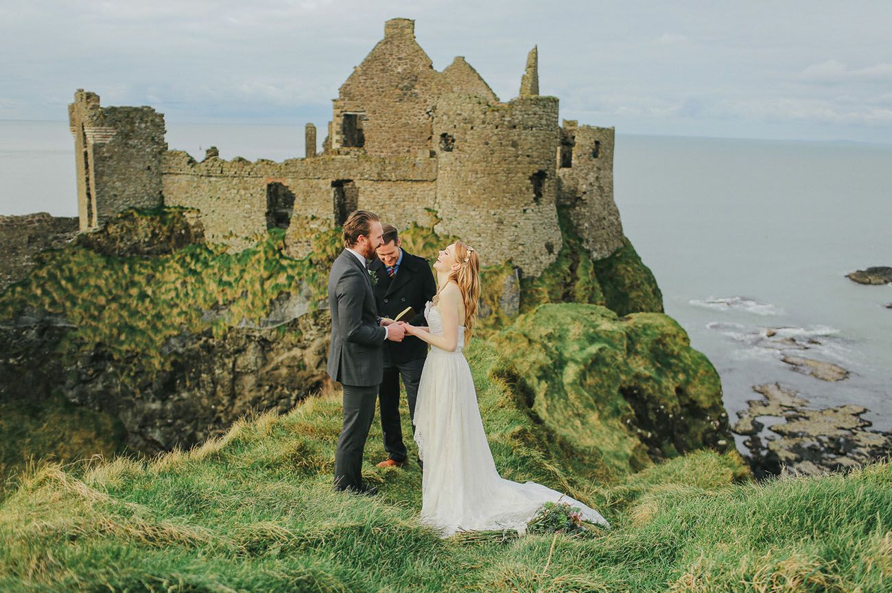 Elopement Inspiration at an Irish Castle Irish wedding