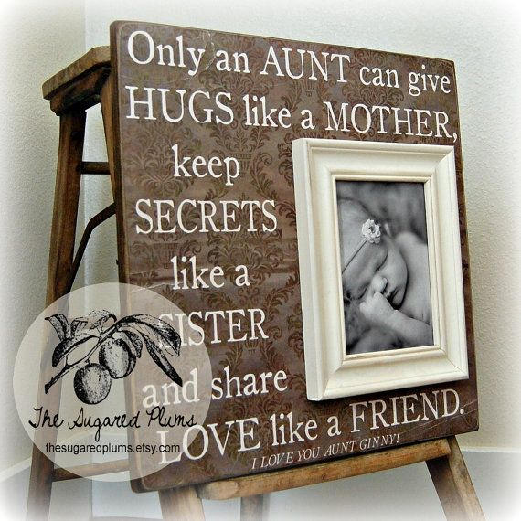 Aunt Uncle Auntie Gift Picture Frame Godparents Godmother Godfather Baptism 16x16 O On Etsy 7500