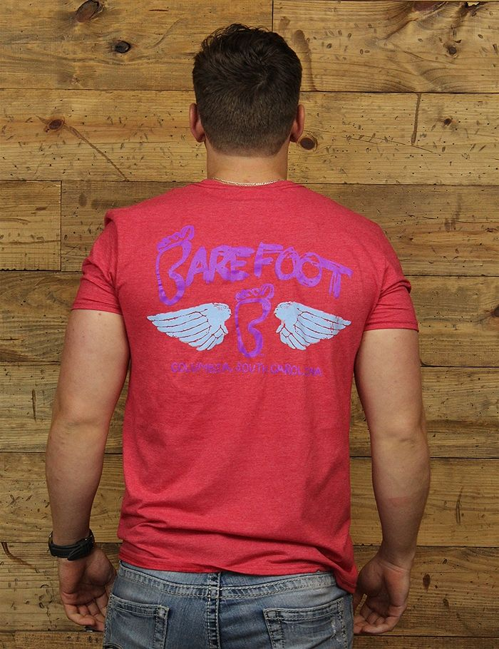 Show your love for Barefoot and Columbia in this NEW Barefoot wing tee! Grab yours today!!