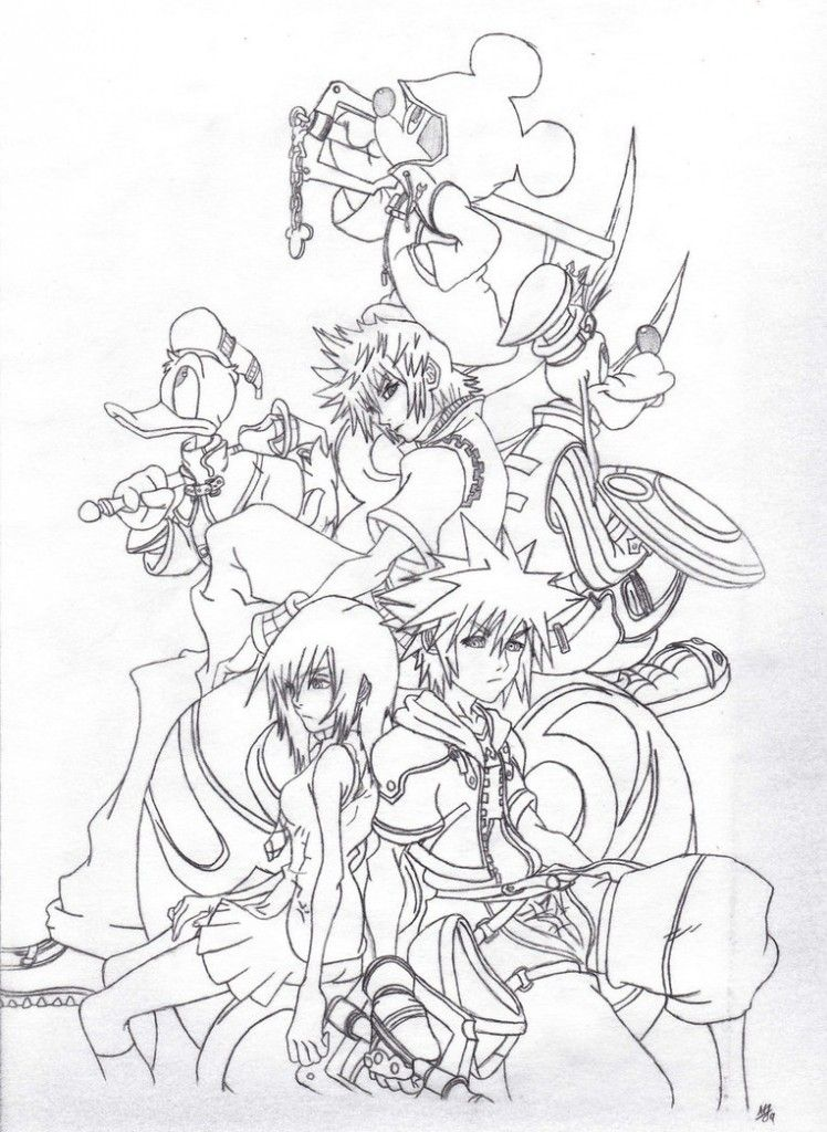 Free Printable Kingdom Hearts Coloring Pages For Kids Heart Coloring Pages Cartoon Coloring Pages Coloring Pages