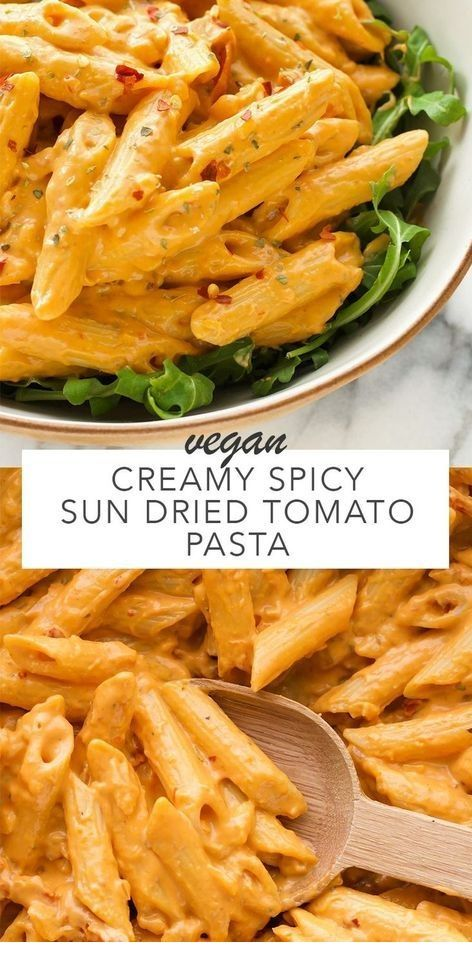 CREAMY SPICY SUN DRIED TOMATO PASTA images