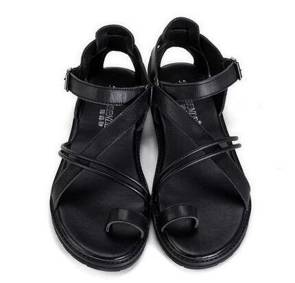 2015 nuovi uomini di modo trend sandali di cuoio genuino gladiatore  spiaggia scarpe da uomo sandali (China (Mainland)) a938e99d6c4