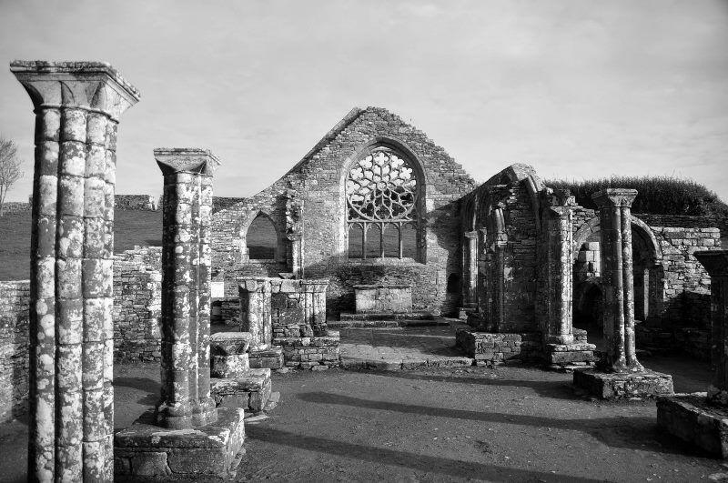 sur les chemins bretons : ruines de landigou