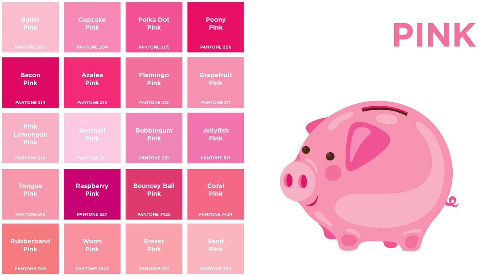 Book colour names - Shades Of Pink Names Extravital Fasion