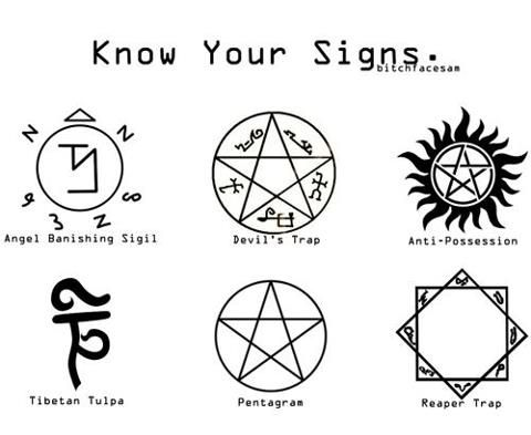 Hey Baby What S Your Sign Supernatural Awesomeness Supernatural Signs Supernatural Supernatural Fans