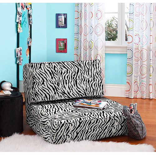 Your zone flip chair multiple colors flipping for Zebra room decor walmart