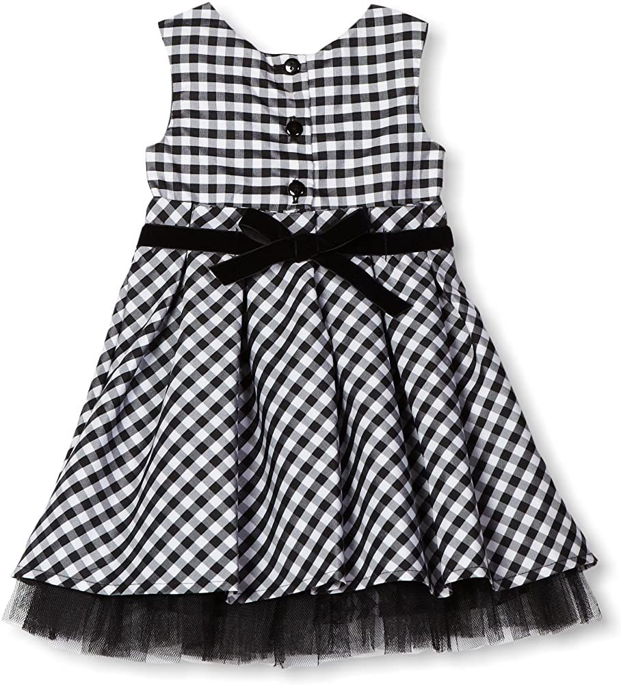 Amazon.com: Youngland bebé niña Shrug De Manga Larga Vestido (3 piezas), 24 meses, Negro Blanco: Clothing