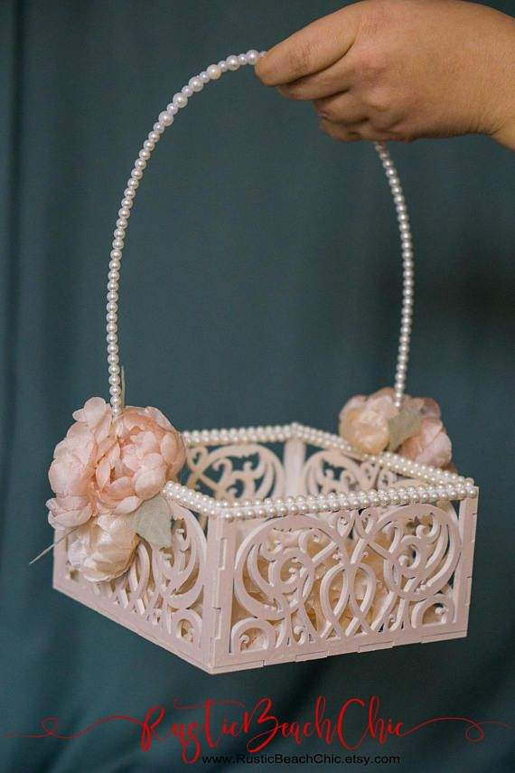 Unique Flower Girl Baskets, Pink Wedding Basket, Flower Girl Basket ...