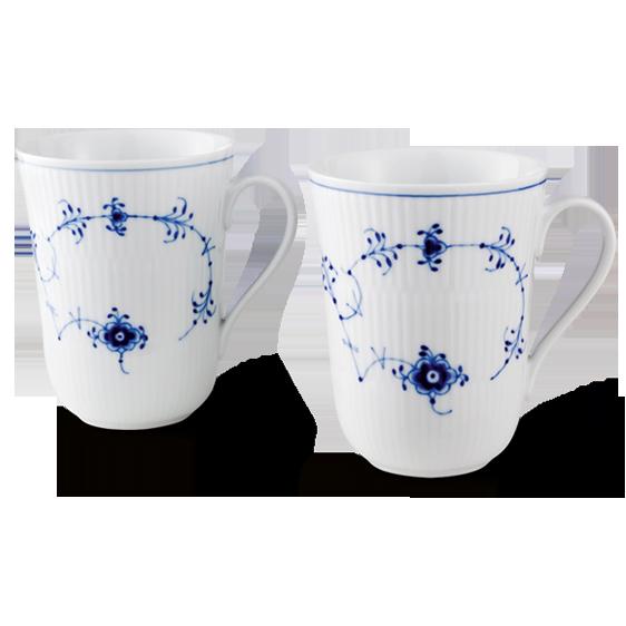 royal copenhagen blue fluted plain mug 33 cl 2 pack. Black Bedroom Furniture Sets. Home Design Ideas