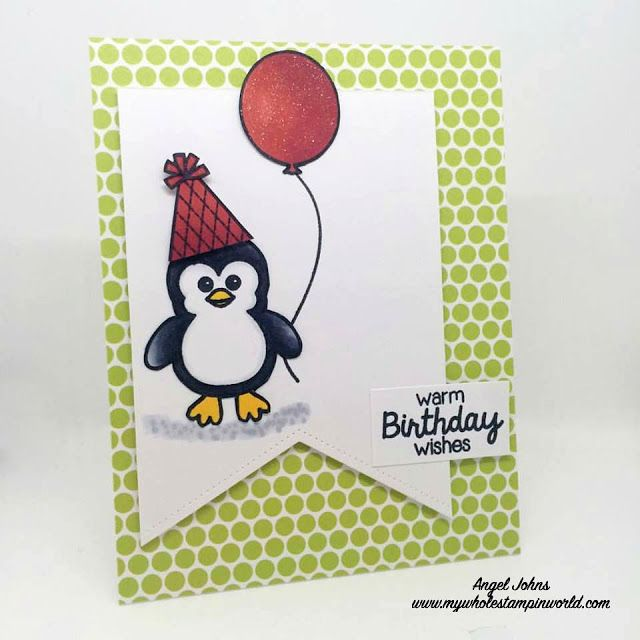 Sunny Studio Birthday Smiles And Bundled Up Penguin Birthday Card
