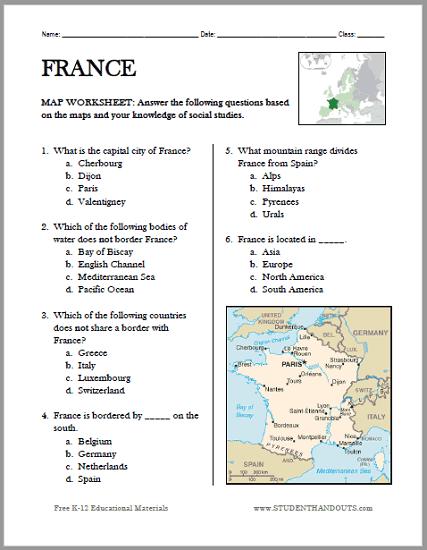 Geography worksheets pdf Wonderful
