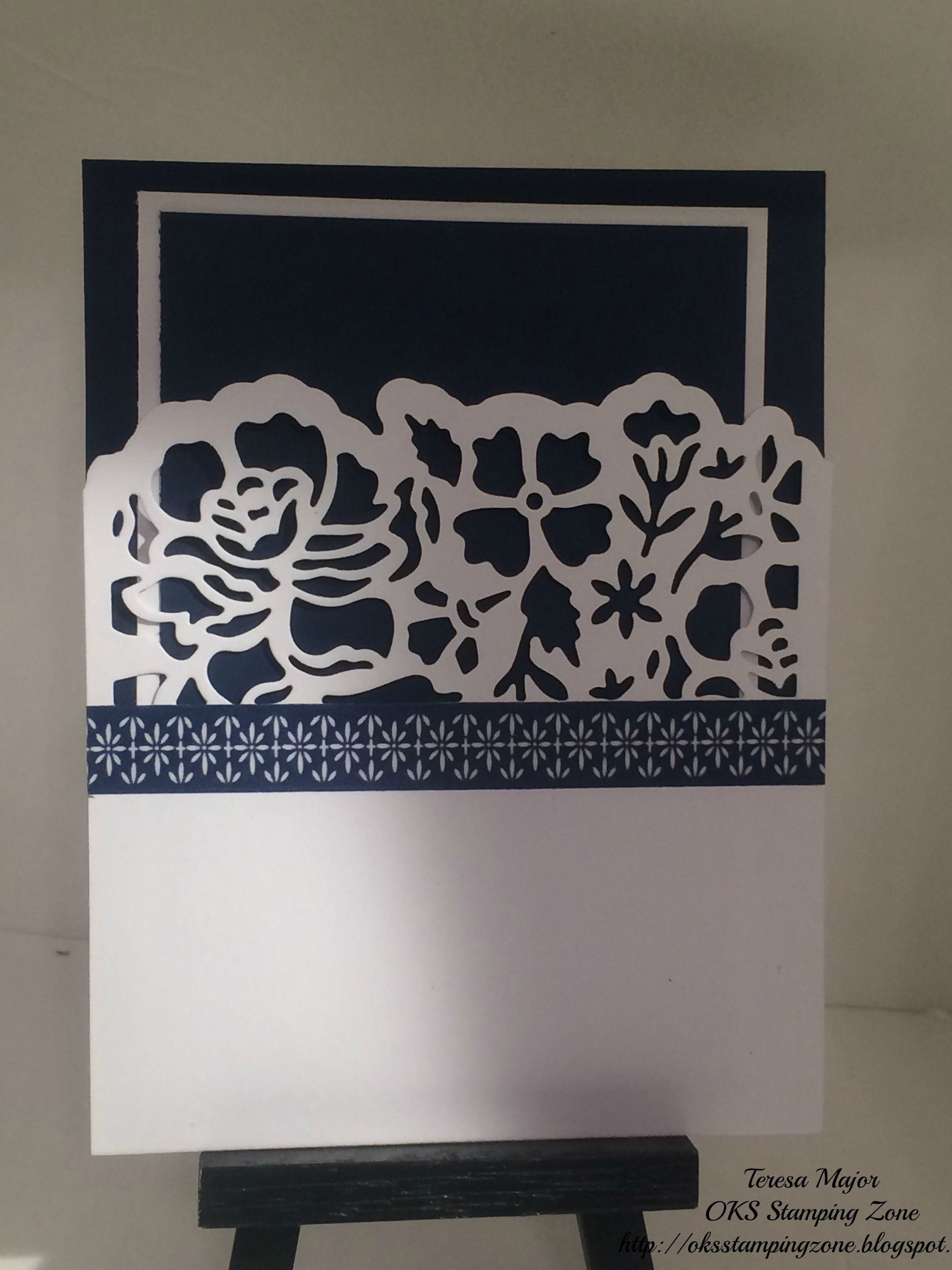 Stampin Up Floral Boutique Pull Card Creation.
