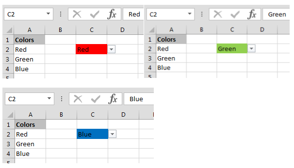 Create Drop Down List In Excel With Color Tips Excel Tutorials Excel Good Resume Examples