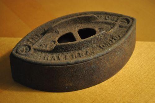 "Antique Sad Iron Antique Original ""The Cleveland Company Size 2 Ohio"""