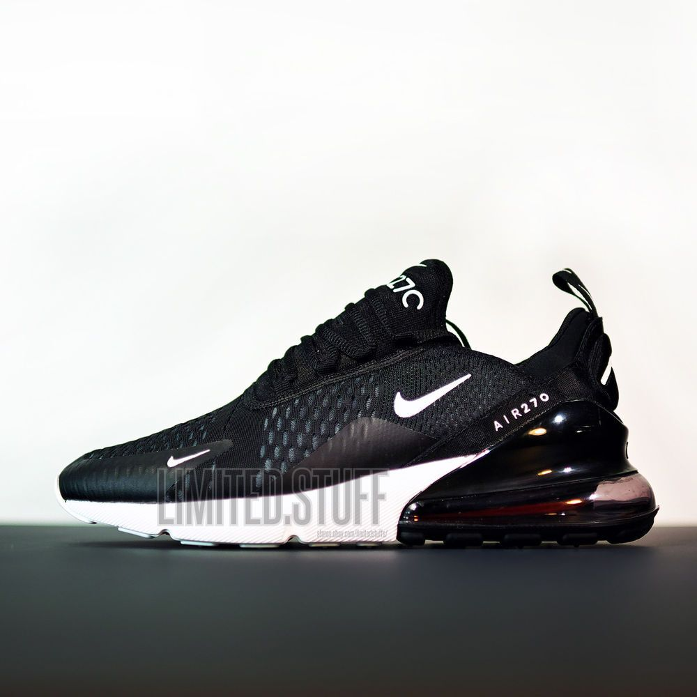 outlet store 68014 dcb65 Nike Air Max 270 model 2018 - Black/Red - Size 9.5 US 43 EU ...