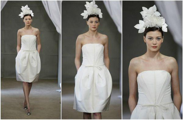 Brautkleid kurz in weiß | Hochzeit | Pinterest