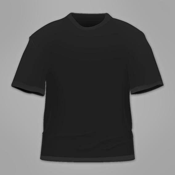 Free Blank Black T Shirt Template