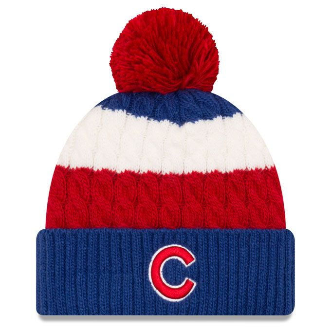 Chicago Cubs Layered Up Cuff Pom Knit by New Era at SportsWorldChicago.com   ChicagoCubs  Cubs  mlb  flythew e4f7380b47a