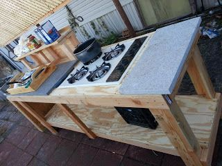 Under A Hundred Diy Outdoor Kitchen Outdoor Kitchen Countertops Canning Kitchen