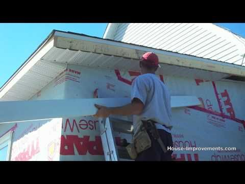 How To Install Soffit And Fascia Youtube Vinyl Siding Installation Home Repairs Installing Siding