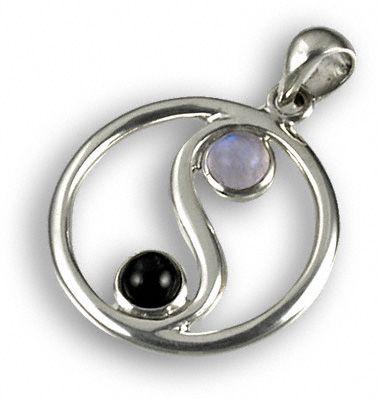 Moonstone yin yang pendant joyera pinterest joyeras dijes y moonstone yin yang pendant aloadofball Images